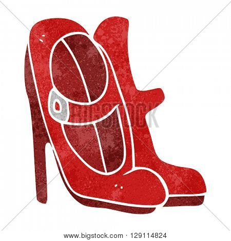 freehand retro cartoon high heeled shoes