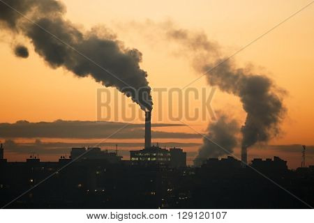 Pollution over the town