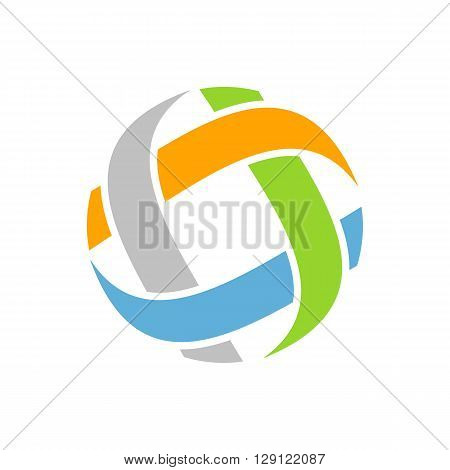 Abstract blue green orange and grey graphite fibers isolated on white background.