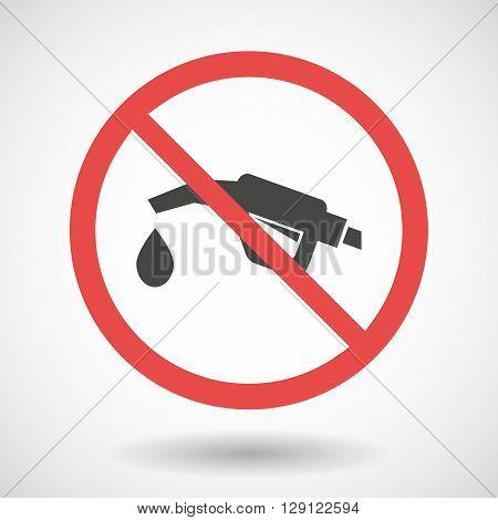 Forbidden Vector Signal With   A Gas Hose Icon
