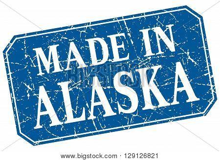made in Alaska blue square grunge stamp