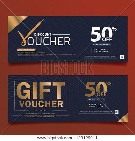Gift Voucher Premier Color Gift Voucher template with premium vintage. vector