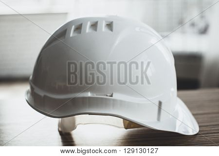 Safety Engineer Helmet Gear on the table