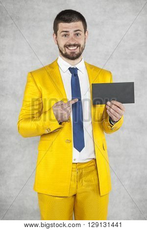 Businessman Points To The Envelope