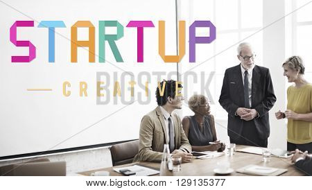 Start Up Development Enterprise Launch Growth Concept