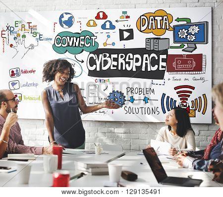 Cyberspace Internet Online Virtual Digital Technology Concept