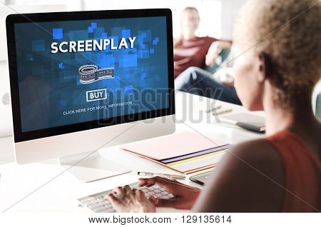 Screenplay Proofreader Story Write Copyright Concept