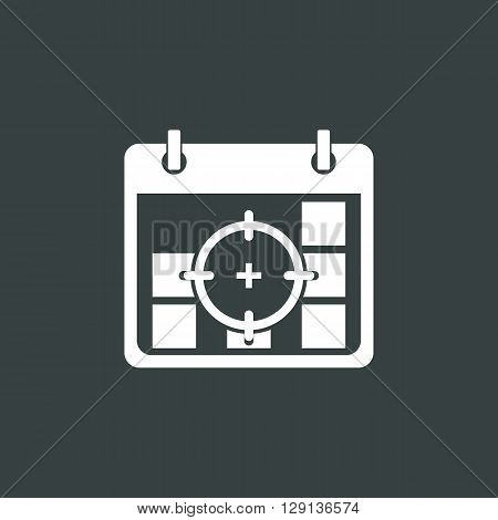 Deadline Icon In Vector Format. Premium Quality Deadline Symbol. Web Graphic Deadline Sign On Dark B