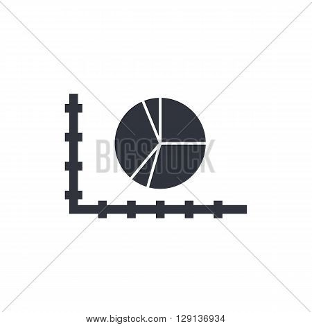 Pie Chart Icon In Vector Format. Premium Quality Pie Chart Symbol. Web Graphic Pie Chart Sign On Whi