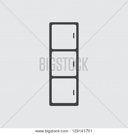 Cupboard icon illustration isolated vector sign symbol