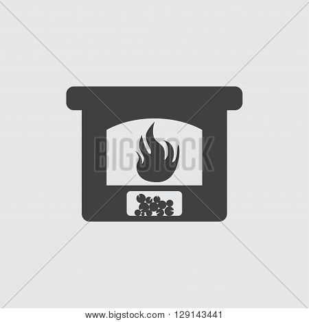 Fireplace icon illustration isolated vector sign symbol