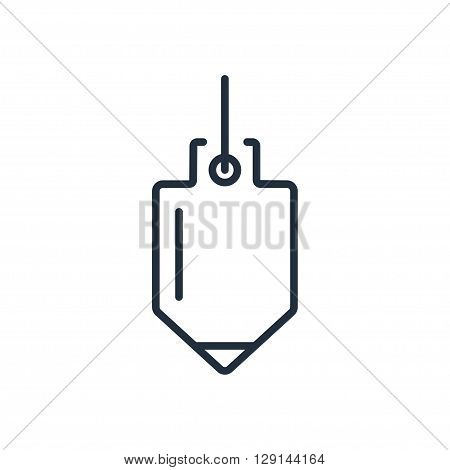 Plummet icon in thin line style. Vector illustration. Vector symbols.