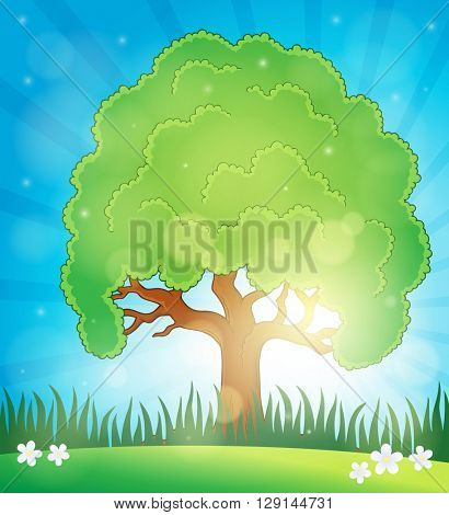 Spring topic background 5 - eps10 vector illustration.