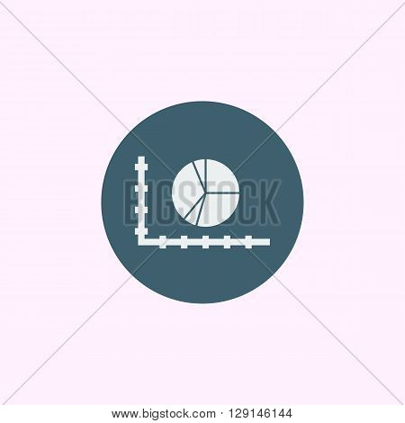 Pie Chart Icon In Vector Format. Premium Quality Pie Chart Symbol. Web Graphic Pie Chart Sign On Blu