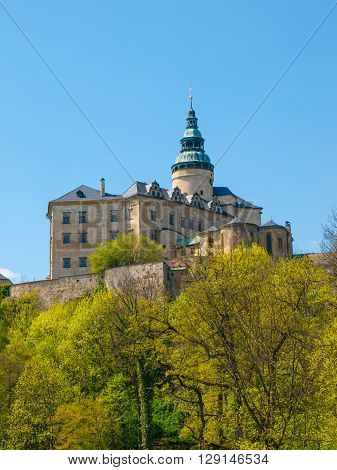 Frydlant v Cechach - Gothic castle and Renaissance chateau with high tower in northern Bohemia, Czech Republic