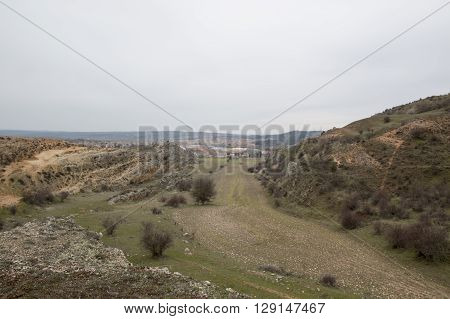 Landscape of El Burgo de Osma in Soria, Spain.