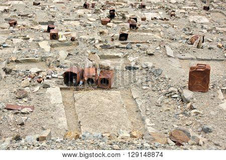 Muslim cemetery near Turtuk village, Jammu & Kashmir, India