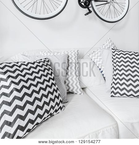 Bike Suspended On The Wall