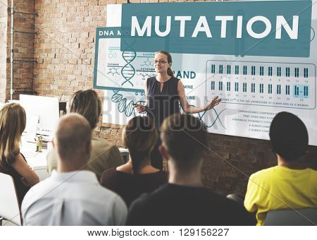 Mutation Biology Chemistry Genetic Scientific Concept