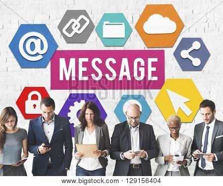 Message Technology Digital Webpage Concept