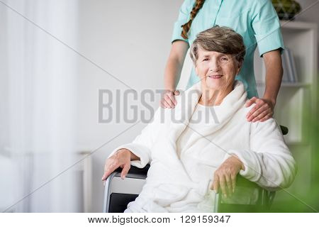 Woman With Alzheimer Having Support