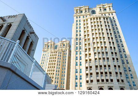 Qatar Doha architectures of an elegant hotel