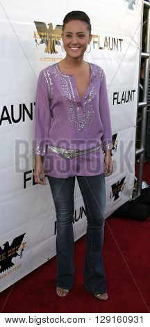 Lauren C. Mayhew at the Flaunt Magazine Hosts Antik Denim's Party at the Antik on Melrose Hollywood, USA on August 18, 2005.