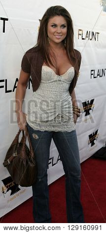 Nadia Bjorlin at the Flaunt Magazine Hosts Antik Denim's Party at the Antik on Melrose Hollywood, USA on August 18, 2005.