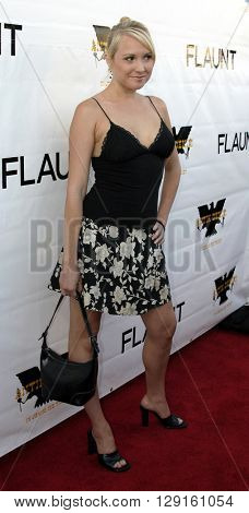 Alana Curry at the Flaunt Magazine Hosts Antik Denim's Party at the Antik on Melrose Hollywood, USA on August 18, 2005.