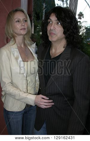 Paul Stanley and Erin Sutton at the Grand Opening of Porta Bella in Beverly Hills, USA on September 2, 2005.