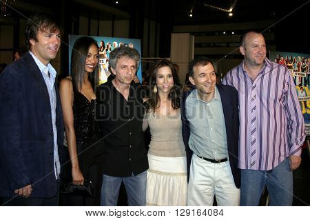 Todd Zeile, Zoe Saldana, Lacey Chabert, David Kendall, and Dan Kaplow at the World premiere of