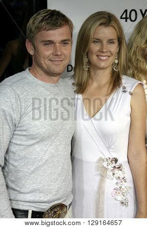 Rick Schroder and Andrea Bernard at the Los Angeles premiere of