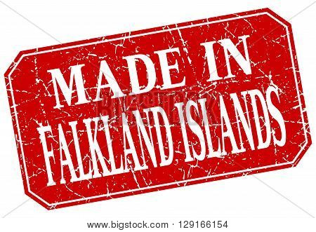 made in Falkland Islands red square grunge stamp