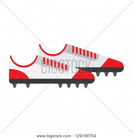 soccer ball flat icon. vector illustration. Flat icon isolated on a white background