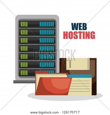 web hosting design, vector illustration eps10 graphic
