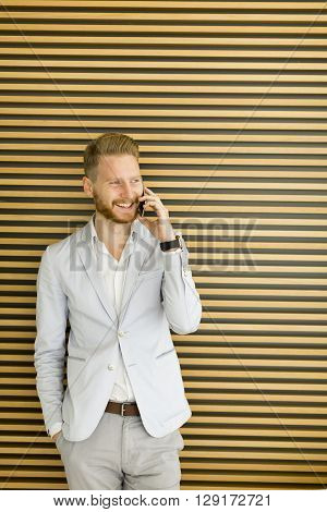 Businessman On The Phone In The Office