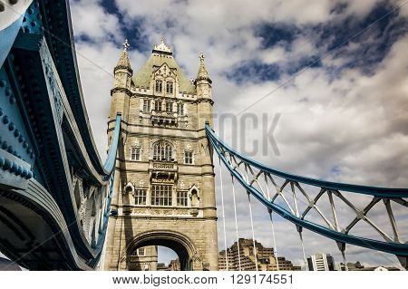 Stunning view of famous Tower Bridge in London, UK