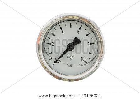 pressure gauge isolated on a white background