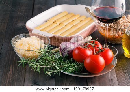 Woman Hands Cooking Cannelloni