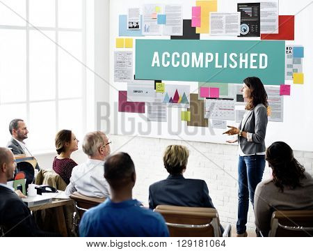 Accomplished Achieve Development Excellence Concept