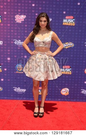 LOS ANGELES - APR 29:  Kira Kosarin at the 2016 Radio Disney Music Awards at the Microsoft Theater on April 29, 2016 in Los Angeles, CA