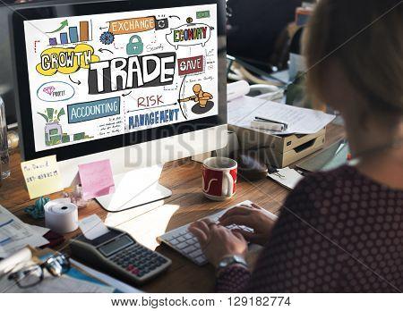 Trade Export Economy Exchange Finance Concept