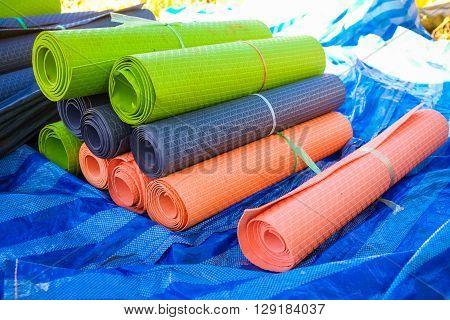 Slipping pad on camping for hiker many color