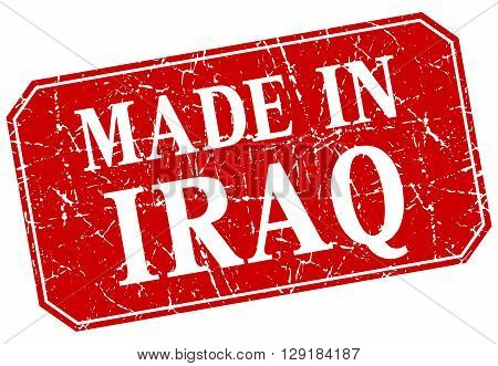 made in Iraq red square grunge stamp
