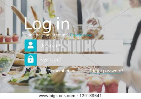 Login Registration Username Password Concept
