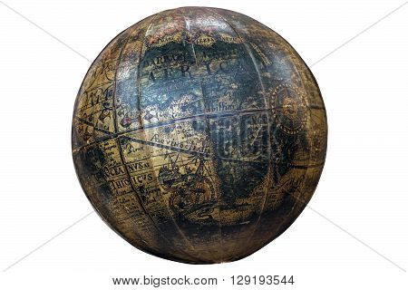 Vintage Spherical World Globe Showing Continent Of Africa
