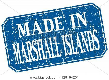 made in Marshall Islands blue square grunge stamp