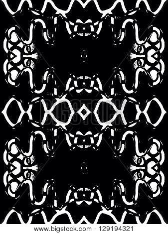 vector illustration  taboo design in black color this good for men t shirt