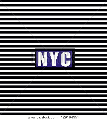 vector illustration  newyork design with black lines this can set by women t shirts