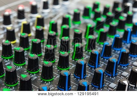 Studio sound mixer used for control and mix sound